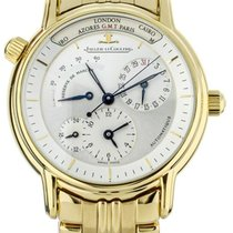 Jaeger-LeCoultre Master Geographic Yellow gold 38mm Silver United States of America, Illinois, BUFFALO GROVE