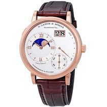 A. Lange & Söhne Rose gold Manual winding Silver Roman numerals 41mm new Grand Lange 1