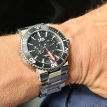 "Oris Regulateur ""Der Meistertaucher"" Titanium 43mm Black No numerals"