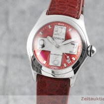 Corum Bubble Stal 45mm Czerwony