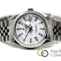 Rolex Oyster Perpetual Date usados 34mm Blanco Fecha Acero