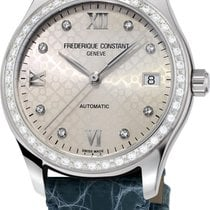 Frederique Constant Ladies Automatic Double Heart Beat Steel 36mm Silver Roman numerals
