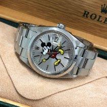 Rolex Oyster Perpetual Date Acél 34mm Ezüst Számjegyek nélkül