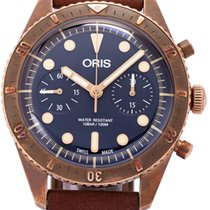 Oris Carl Brashear pre-owned 43mm Leather