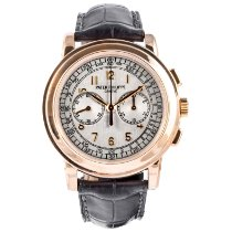 Patek Philippe Chronograph Rose gold 42mm Silver Arabic numerals United States of America, Massachusetts, Boston