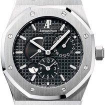 Audemars Piguet Royal Oak Dual Time pre-owned 39mm Black Date Steel