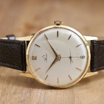 Perseo Yellow gold Manual winding White No numerals 37.5mm pre-owned