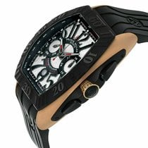 Franck Muller Conquistador GPG Rose gold 50mm Silver Arabic numerals United States of America, New York, Greenvale