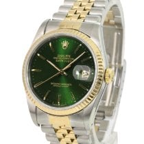 Rolex Datejust Gold/Steel 36mm Green