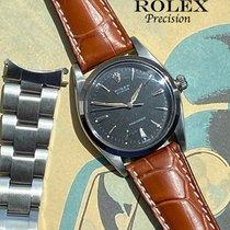 Rolex Oyster Precision Stahl 36mm Schwarz Keine Ziffern Deutschland, München