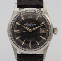 Rolex Oyster Perpetual Date Сталь 34mm Чёрный Без цифр
