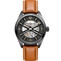 Hamilton Khaki Field Skeleton Steel 42mm Black Arabic numerals United States of America, Massachusetts, Florence
