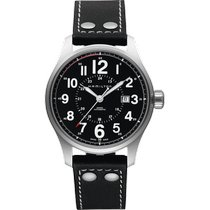 Hamilton Khaki Field Officer Steel 44mm Black Arabic numerals United States of America, Massachusetts, Florence