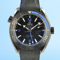 Omega Seamaster Planet Ocean pre-owned 45.5mm Black Date GMT Rubber