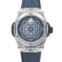 Hublot Big Bang Sang Bleu gebraucht 45mm Blau Leder