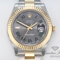 Rolex Datejust II Złoto/Stal 41mm Rzymskie
