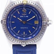 Breitling Antares Stahl 39mm Blau Keine Ziffern