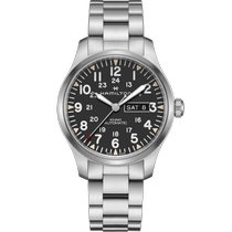 Hamilton Khaki Field Day Date Steel 42mm Black Arabic numerals United States of America, Massachusetts, Florence