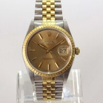 Rolex Oyster Perpetual Date Or/Acier 34mm Or Sans chiffres