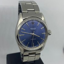 Rolex Oyster Precision Steel 34mm Blue No numerals