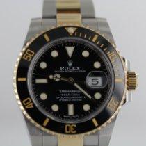 Rolex Submariner Date Золото/Cталь 40mm Чёрный Без цифр