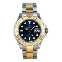 Rolex Yacht-Master 40 Gold/Stahl 40mm Blau Keine Ziffern