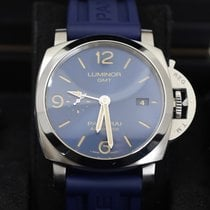 Panerai Luminor 1950 3 Days GMT Automatic Steel 44mm Blue Arabic numerals