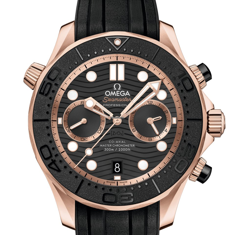 Omega Seamaster Diver 300 M Co‑Axial Master Chronometer Chronograph 44 mm Sedna Gold