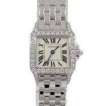 Cartier Quartz Silver 20mm pre-owned Santos Demoiselle