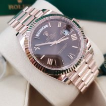 Rolex Day-Date 40 Rose gold 40mm Brown Roman numerals United States of America, New Jersey, Totowa