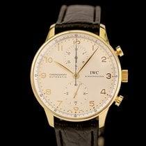 IWC Oro amarillo Automático Plata Arábigos usados Portuguese Chronograph