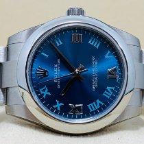 Rolex Oyster Perpetual 36 Stahl 31mm Blau Arabisch