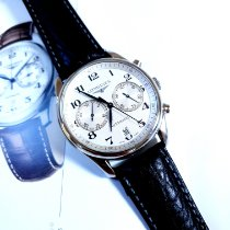 Longines Master Collection pre-owned 40mm White Chronograph Date Leather