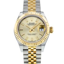 Rolex Lady-Datejust Gold/Steel 28mm Champagne United States of America, New York, New York