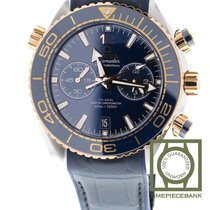 Omega Seamaster Planet Ocean Chronograph Or/Acier 45.5mm Bleu