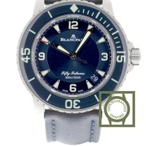 Blancpain Fifty Fathoms Titanium 45mm Blauw Arabisch