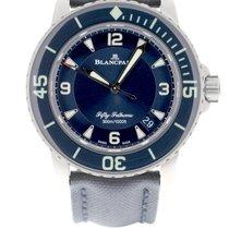 Blancpain Fifty Fathoms Titanium 45mm Blauw Arabisch