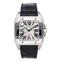 Cartier Santos 100 Steel 51.1mm Silver Roman numerals United States of America, Pennsylvania, Bala Cynwyd