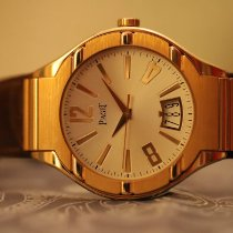 Piaget Rose gold Automatic Silver Arabic numerals 43mm pre-owned Polo