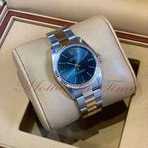 Rolex Oyster Perpetual 34 Gold/Steel 34mm Blue United States of America, New York, New York
