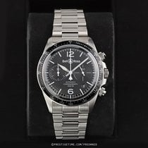 Bell & Ross BR V2 pre-owned 41mm Black Chronograph Date Year Tachymeter Steel