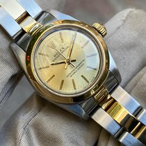 Rolex Oyster Perpetual 26 Or/Acier Champagne Sans chiffres