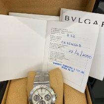 Bulgari usado Cronógrafo 35mm Preto Vidro de safira 3 ATM