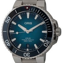Oris Aquis Date Steel 39mm Blue United States of America, Texas, Austin