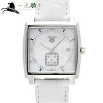 TAG Heuer Monaco Lady Staal 37mm Wit