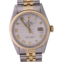 Rolex Datejust Gold/Steel 36mm White Roman numerals