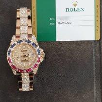 Rolex Or rose Remontage automatique Blanc Sans chiffres 40mm nouveau GMT-Master II