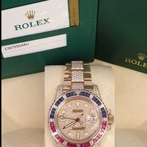 Rolex Rose gold Automatic White No numerals 40mm new GMT-Master II