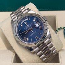 Rolex Day-Date 40 Oro bianco 40mm Blu Romani Italia, Monza