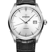 Eterna 1948 Steel 41.50mm Silver No numerals
